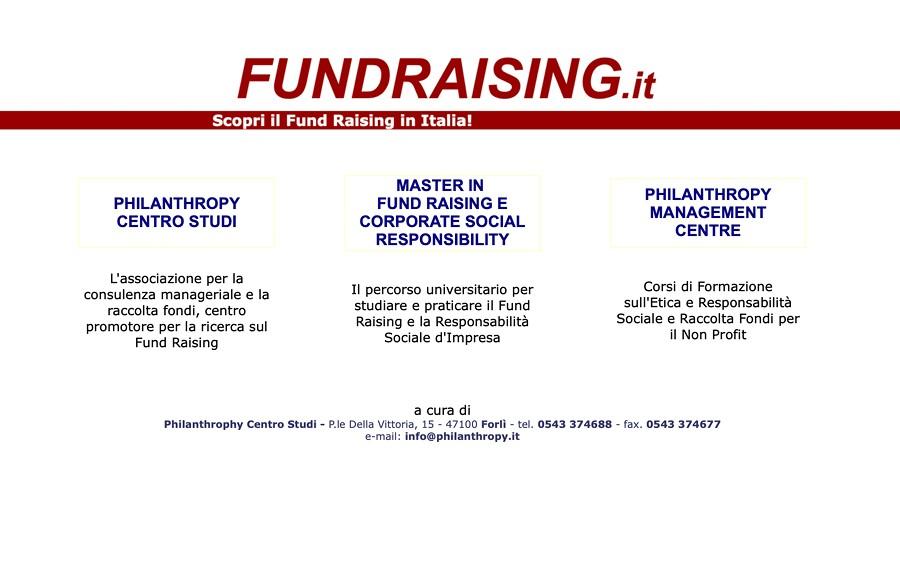Schermate Sito Fundraising