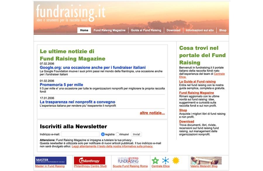 Schermate Sito Fundraising2