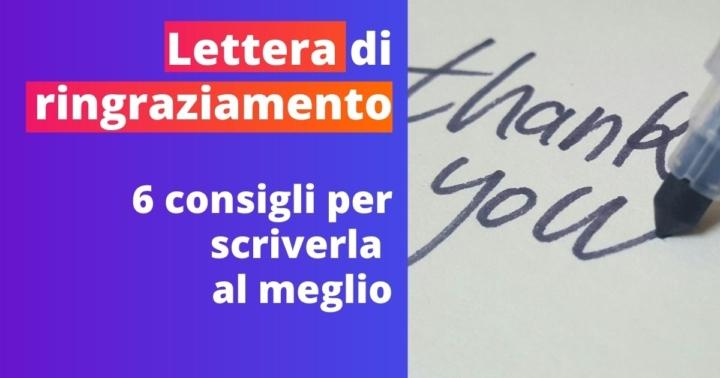 Lettera Di Ringraziamento Per Donazione